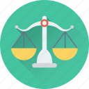 justice, law, legal, scale, trade icon