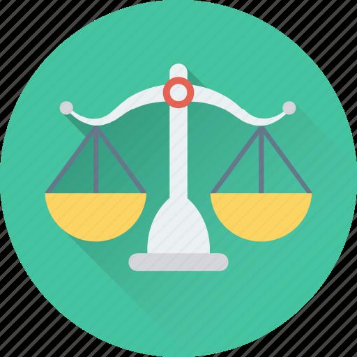 justice, law, legal, scale, trade icon
