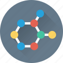 atom, biomedical, electron, molecular, science icon