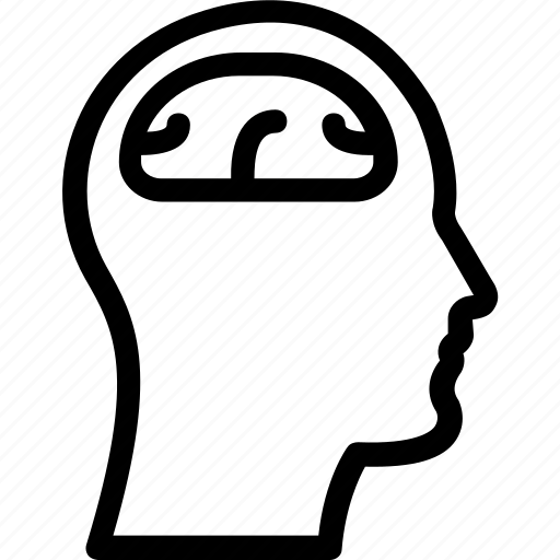 brain, brainstorming, head, human brain, organ icon