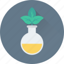 botany, experiment, lab, leaf, plant icon