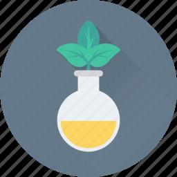 botany, experiment, lab, leaf, plant icon