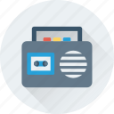 boombox, radio, tape, technology, transmission icon
