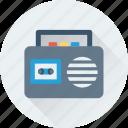 boombox, radio, tape, technology, transmission icon