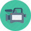 camera, movie camera, multimedia, recorder icon