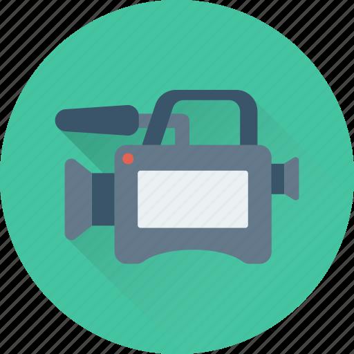 camera, movie camera, multimedia, recorder icon