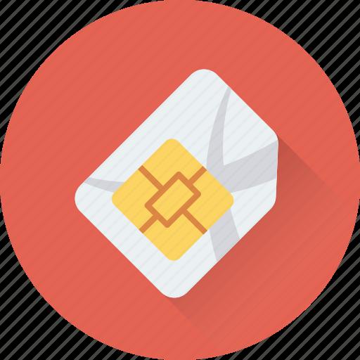 chip, integrated chip, microchip, sim, sim card icon