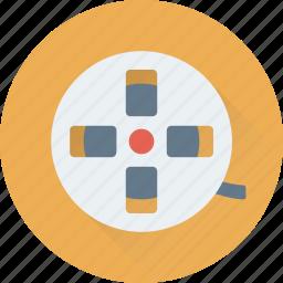 film reel, movie reel, photography, reel, video icon