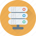 database, hosting, networking, server, storage icon