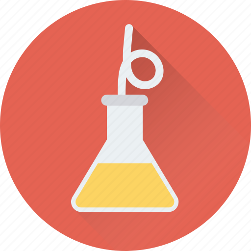 conical, experiment, flask, laboratory, test icon