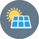 energy, solar, solar heating, solar panel icon