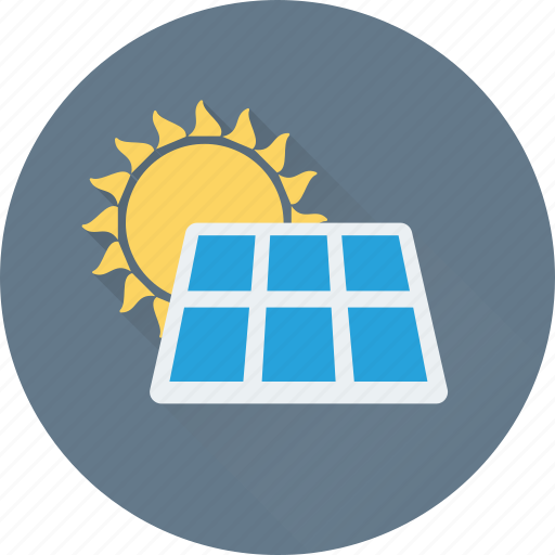 energy, solar, solar heating, solar panel icon