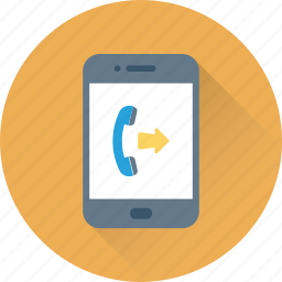 call, incoming call, mobile, smartphone, technology icon