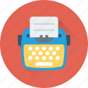 office, paper, stenographer, typewriter, typing icon