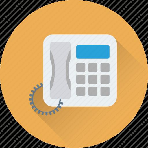contact, fax, landline, phone, telephone icon
