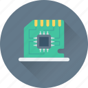 computer, hardware, lan, lan card, sound card icon