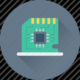 computer, hardware, lan, lan card, sound card icon