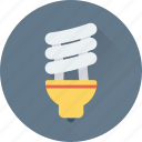 bulb, eco, energy saver, light, lightbulb icon