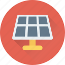 electric, solar cell, solar palette, solar panel, solar system icon