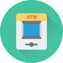 atm, banking, cash line, cash machine, cash point icon
