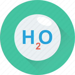 chemistry, h2o, science, water, water formula icon