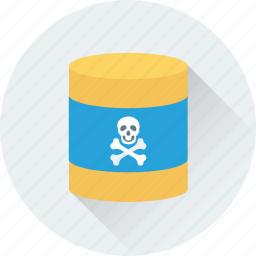 barrel, chemical barrel, danger, nuclear, radioactivity icon