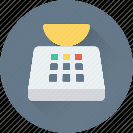 kitchen, kitchen scale, measuring tool, scale, utensil icon