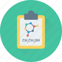 atom, clipboard, molecule, notes, science icon