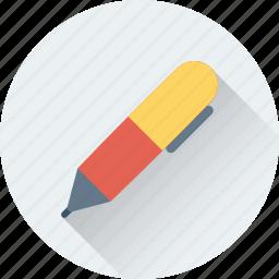 ballpoint, fountain, pen, stationery, write icon