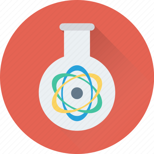 electron, experiment, flask, research, test icon