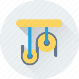 construction, container, industrial, lifter, pulley icon
