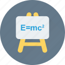 board, einstein formula, emc2, formula, science icon