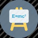 board, einstein formula, emc2, formula, science