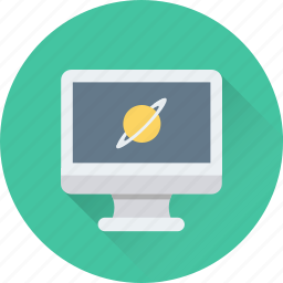 monitor, orbit, planet, science, universe icon