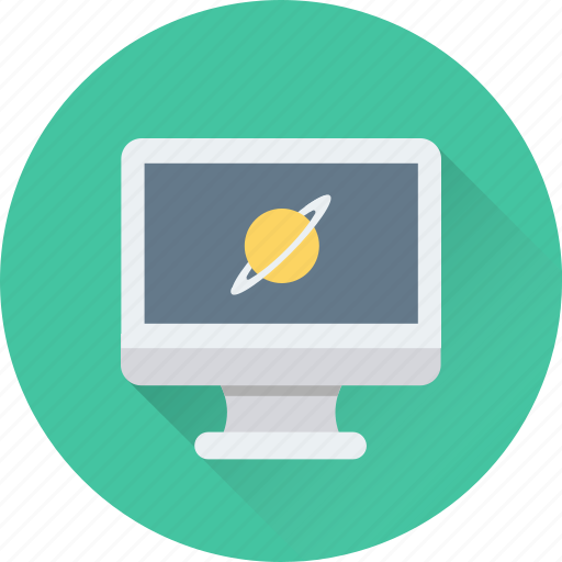 Monitor, orbit, planet, science, universe icon - Download on Iconfinder