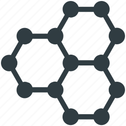 atom, dna, molecular structure, molecule, science icon
