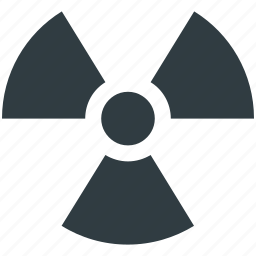 danger, nuclear, radiation, radioactivity symbol, toxic icon