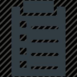 checklist, clipboard, document, form, questionnaire icon