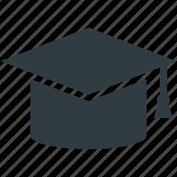 academy, educator, graduation, graduation cap, mortarboard icon