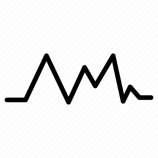 graph, growth, line, wave, waves icon