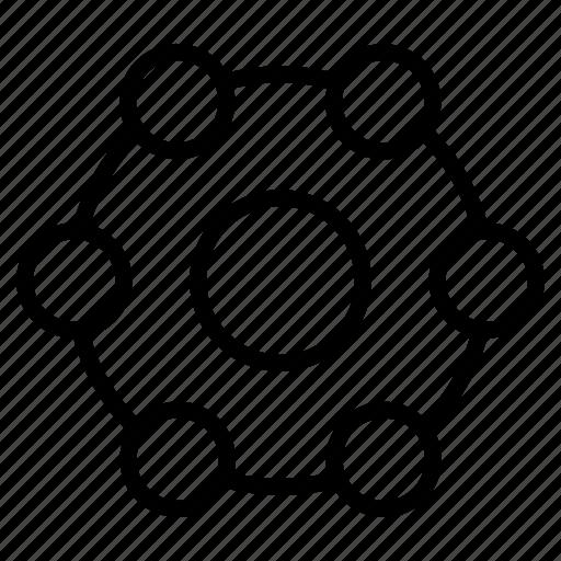 atom, element, molecular, nuclear, research icon
