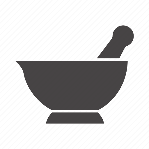chemical vessel, chemistry, mortar, pestle, pistil, pounder, science icon