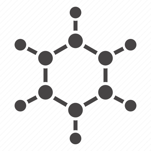 benzene ring, benzol, formula, fuel, gasoline, hydrocarbon, petrol icon