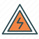 alert, bolt, electricity, electrocution, lightining icon