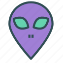 alien, avatar, face, figure icon
