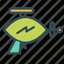 alien, bolt, gun, laser, lightining icon