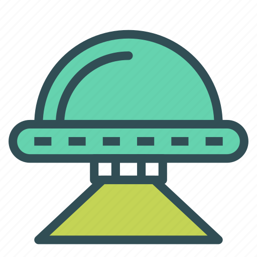 alien, ship, space icon