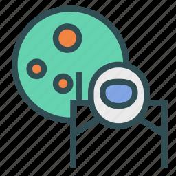 astronaut, avatar, figure, moon, space icon