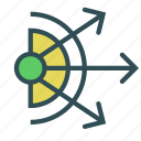 arrow, circle, direction, expansion icon