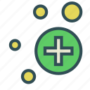 bubble, circle, cross, medical icon